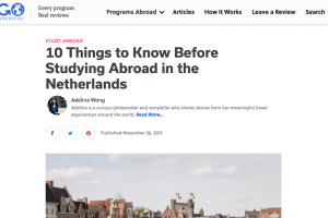 "Go Overseas – ""10 Things to Know Before Studying Abroad in the Netherlands"""