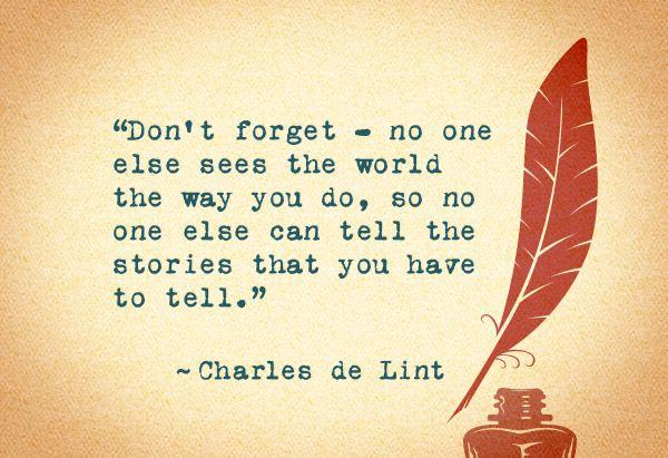 Charles de Lint Stories Quote