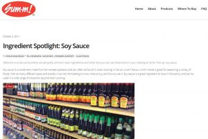 "Fine Choice Foods – ""Ingredient Spotlight: Soy Sauce"""